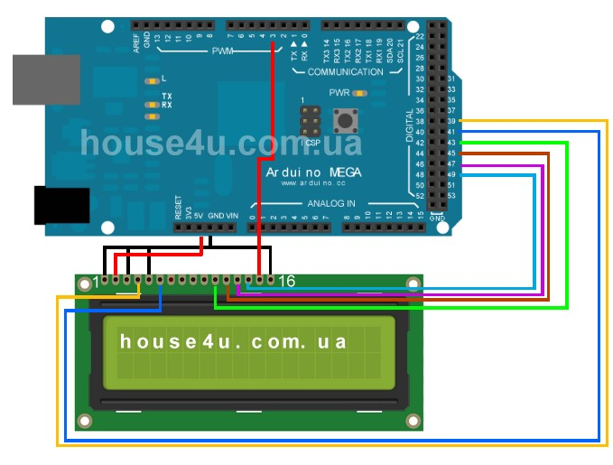 Connecting an LCD display 1602